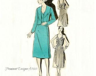 Summer Dress Pattern Crossover Bodice Bust 36 Unused Prominent Designer A760 Dalani II Size 14 FF