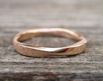 Mobius Stacking Wedding Ring, Rose Gold 3mm Mobius Ring, Mobius Wedding Band, Gold Wedding Ring, Rose Gold Stackable Ring, Infinity Ring