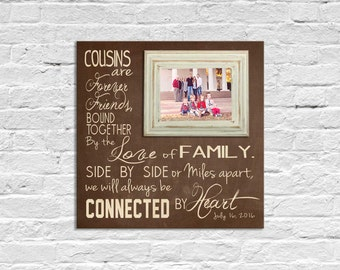cousin gift frame bridesmaid gift grandparents picture frame gift god made us cousins gift for mom and dad 16 x 16 holds 5 x 7
