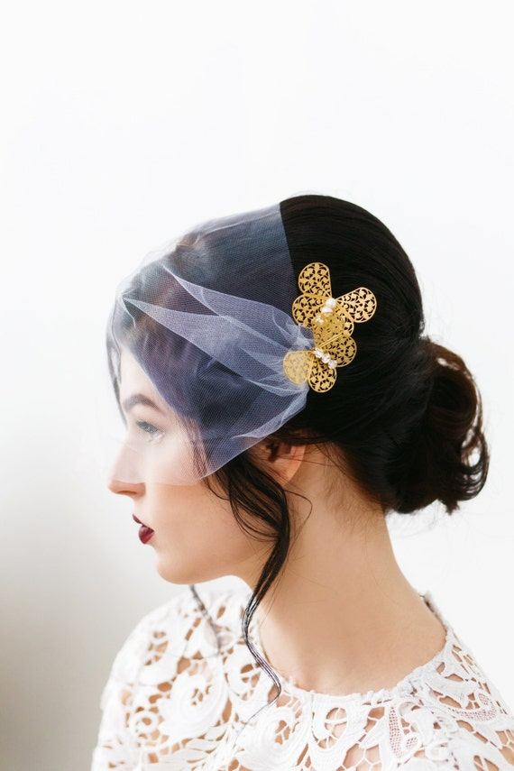 Gold Butterfly Hair Pins, Butterfly Hair Clips, Wedding Hair Pins, Gold Butterfly, Freshwater Pearl Hair Pin, Butterfly Bobby Pins HARMONY