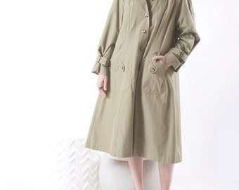SALE 1970s Hooded Trench Coat
