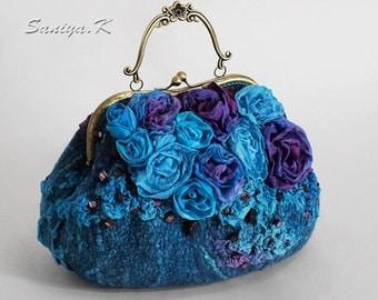 "Handbag eco boho ethno felted ""Fantasy"" eco-friendly boho-chic ethnic felt"
