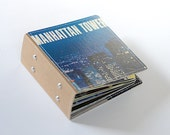 26 CD/ DVD Holder, CD Wallet, Cd Case, Dvd Book Handmade from Vintage Album Cover--New York City Edition, Ready to Ship