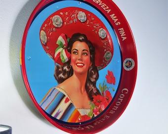 Vintage Son Cervezas Modelo Corona Extra Victoria Beer Serving Tray