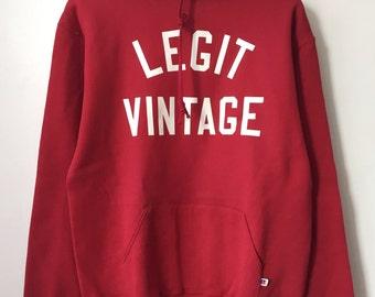 legit vintage X russell athletic hoodie mens size large