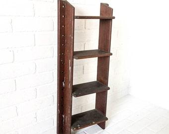 Primitive Wood Shelf Vintage Hanging Wall Display Decor