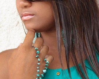 Handcrafted Turquoise Colored Slave Bracelet