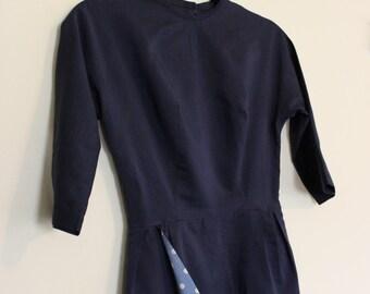 Peek-A-Boo Polka Dot Dress ||| Knee Length ||| 1950s ||| Size 2/4