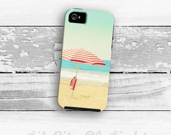 Beach iPhone 7 Case - Cute iPhone 6s Plus Cover - iPhone 5s Case - Umbrella iPhone 6s Case - Ocean iPhone 6 Plus Case - Blue iPhone SE Case