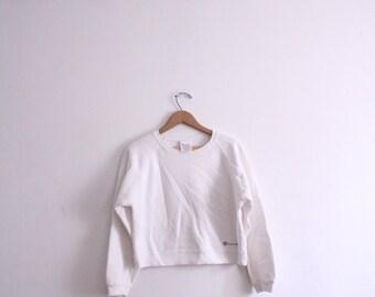 White Champion 90s Crop Sweatshirt