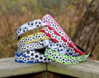 Sports Headbands for Women - Soccer Headband - Kids Headbands for Girls Soccer Gifts - Choice of Sizes & Colors - Custom Headbands