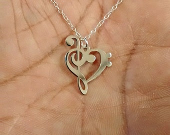 Music Note Necklace - Engraving Pendant - Sterling Silver Jewelry - Gold Jewelry - Rose Gold Jewelry - Personalized Pet Jewelry - Charm