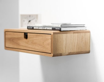 Floating Nightstand with 1 drawer in Oak Scandinavian Design