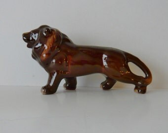 Nippon Yoko Boeki Redware Lion Figurine