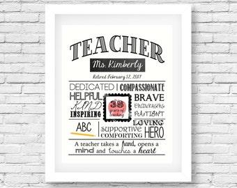 Teacher Retirement Etsy