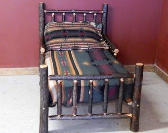 Hickory Log Toddler Bed