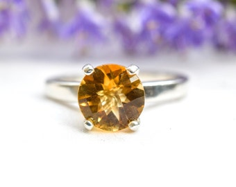 Natural Citrine  Ring with 925 Sterling Silver *Free Worldwide Shipping*