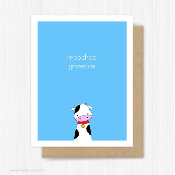 Funny Thank You Card For Friend Her Him Thanks Notes Notecards