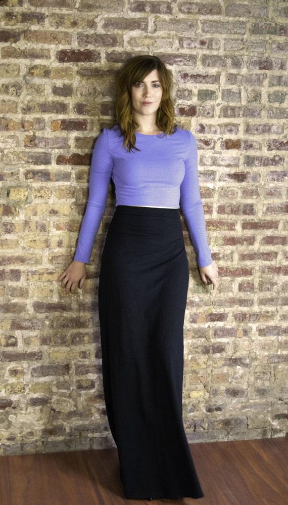 maxi skirt hemp and organic cotton stretch jersey