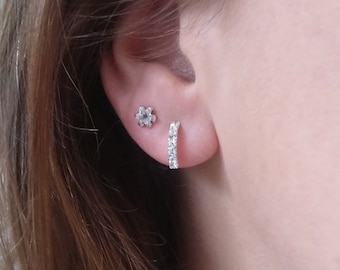 ELEGANCE - 925 Sterling Silver Earrings // Delicate Silver Earrings // Christmas Jewelry // Perfect Christmas Gift // Dainty