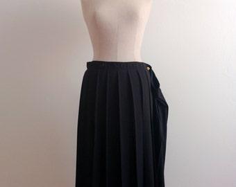 Yohji Yamamoto pleated silk skirt