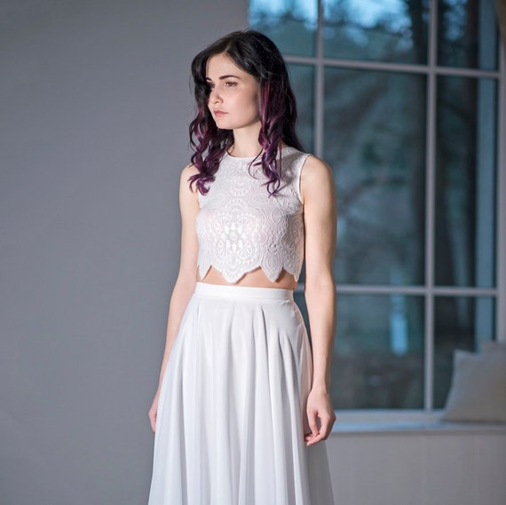 Iris - bridal crop top
