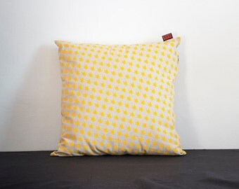 COLOR PILLOW - YELLOW - printed by hand
