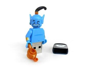 Lego Disney usb, Genie usb 16GB, Disney usb, Lego® original Minifigure, Gift for kids, Lego usb, Disney Minifigure usb, Genie usb pen drive