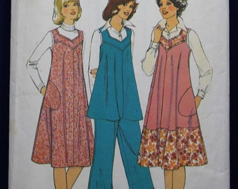 Vintage 1970's Sewing Pattern for a Maternity Dress & Trousers in Size 14 - Style 1773