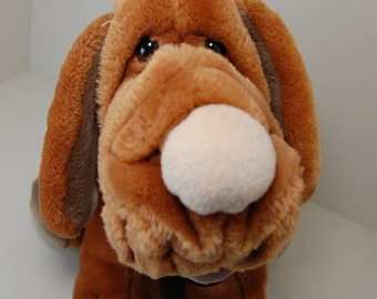 Vintage Wrinkles Plush Puppy Dog, Ganzbros 1981