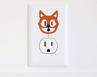 Amaze Fox - Electric Outlet Wall Art Sticker Decal