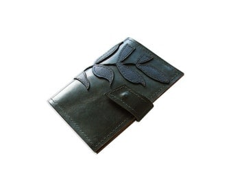 Leather Olive Green Passport Wallet