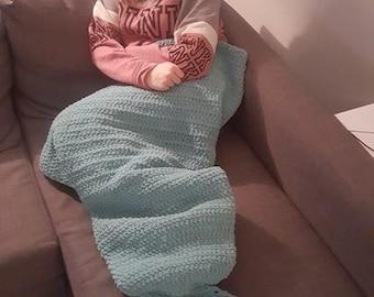 PDF Crochet pattern mermaid tail blanket