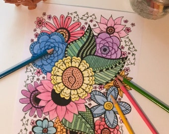 eating disorder recovery printable adult coloring page