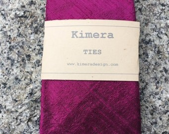 Bright Purple Silk Shantung Handmade Men's Necktie