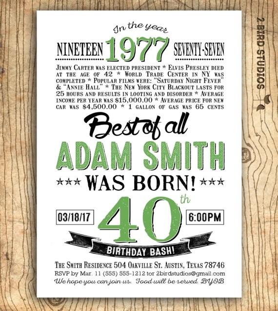 40th birthday invitation surprise 40th birthday invitation il570xn filmwisefo