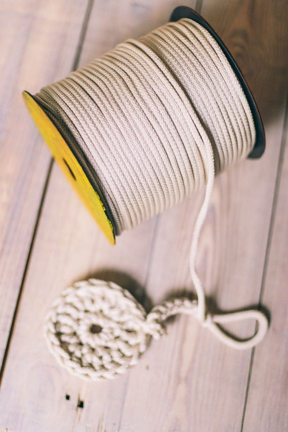 SILVER yarn, diy crafts, craft supplies, diy projects, chunky yarn, colored rope, macrame cord, polyester cord, rope cord, crochet cord. #45