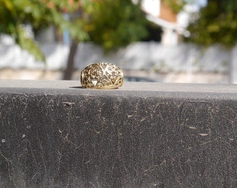 lace ring gold 14kgold statement gift