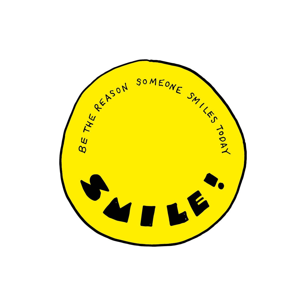 Hand lettering smile