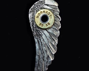 50ae angel wing riveted pendant
