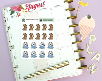 18 Dog Wash Brush Mini Stickers / Planner Stickers