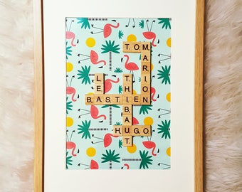 FlamantCoquette scrabble frame