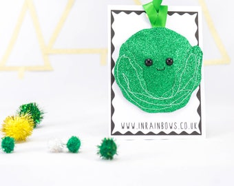 Sprout decoration, Christmas, tree decor, Christmas decoration, glitter decoration