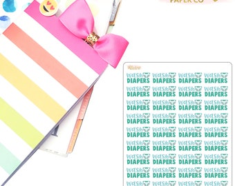 Cloth Diapers Planner Stickers