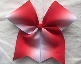Red Ombre Bows/Ombre Cheer Bows/Ombre Softball Bows