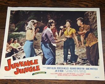 Vintage 11x14 Original Movie Poster Lobby Card |1958 Juvenile Jungle