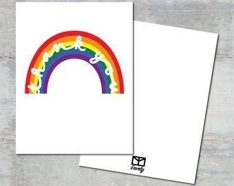 "003 ""Rainbow"" Thank You Card Set   Envely Cards"