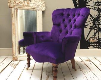 Elizabeth Purple Velvet Lounge Chair