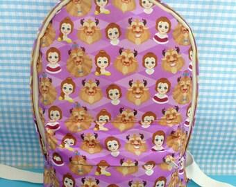 Cute Beauty and the Beast Backpack School Bag Disney Belle