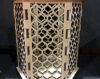 Moroccan Trellis Quatrefoil - Hexagon Candle holder